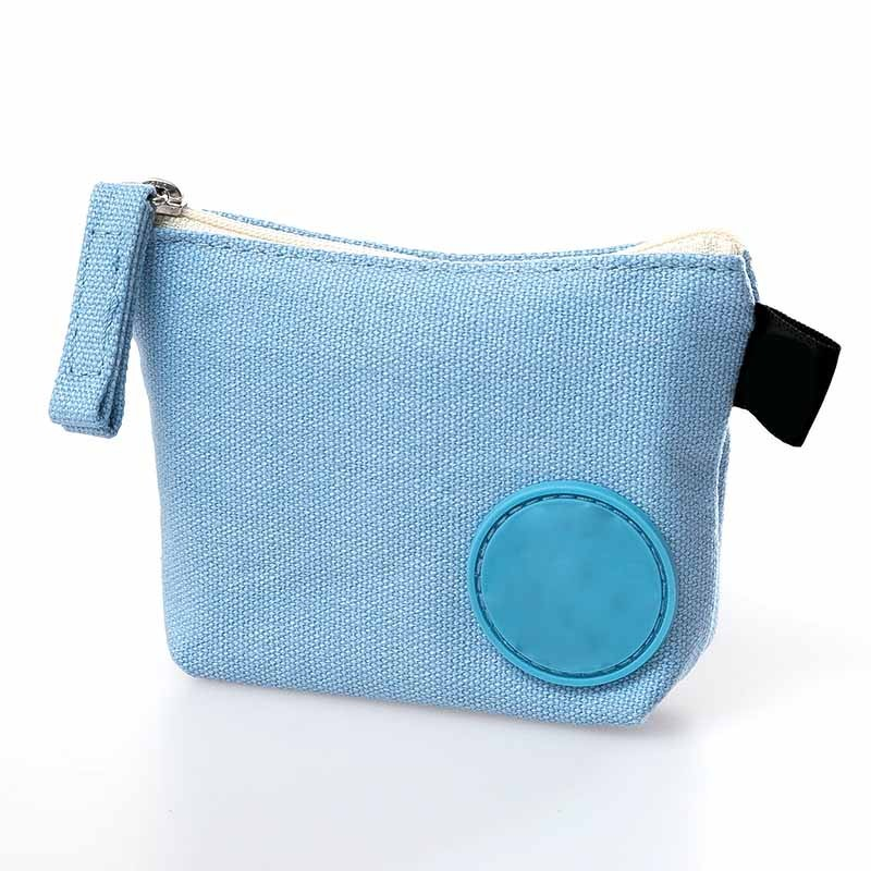 velvet fabric cheap waterproof canvas money bag little wallet for promotion