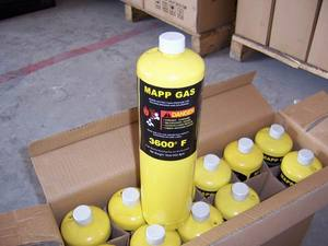99.99% pure Mapp gas cylinder for welding gun welding torch mapp gas