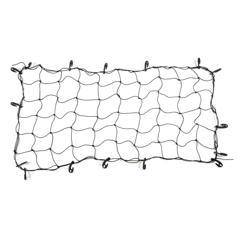 Wholesale Outdoor Equipment Rubber Lightweight Cargo <strong>Net</strong> with Plastic Hooks for Trunk Car