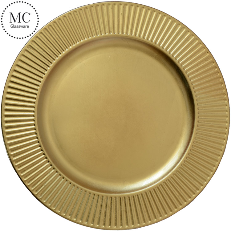 Wedding gold plastic charger plates wholesale