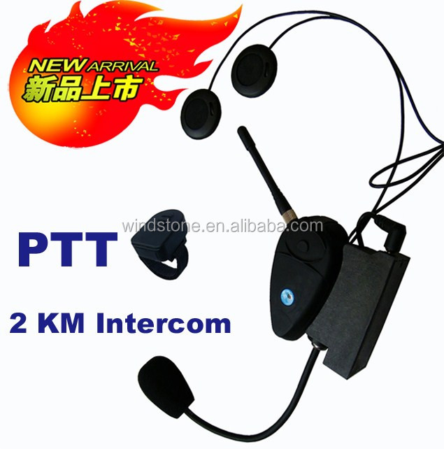 2KM Hot selling intercom headset use for bicycle or motorcycle helmet