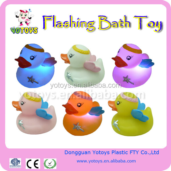 flashing LED light up bath toy / Flashing bath toy,LED bath duck for best selling