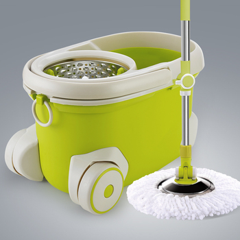 360 rotation magic spin mop with twist two replacement mop heads easy hydrate water
