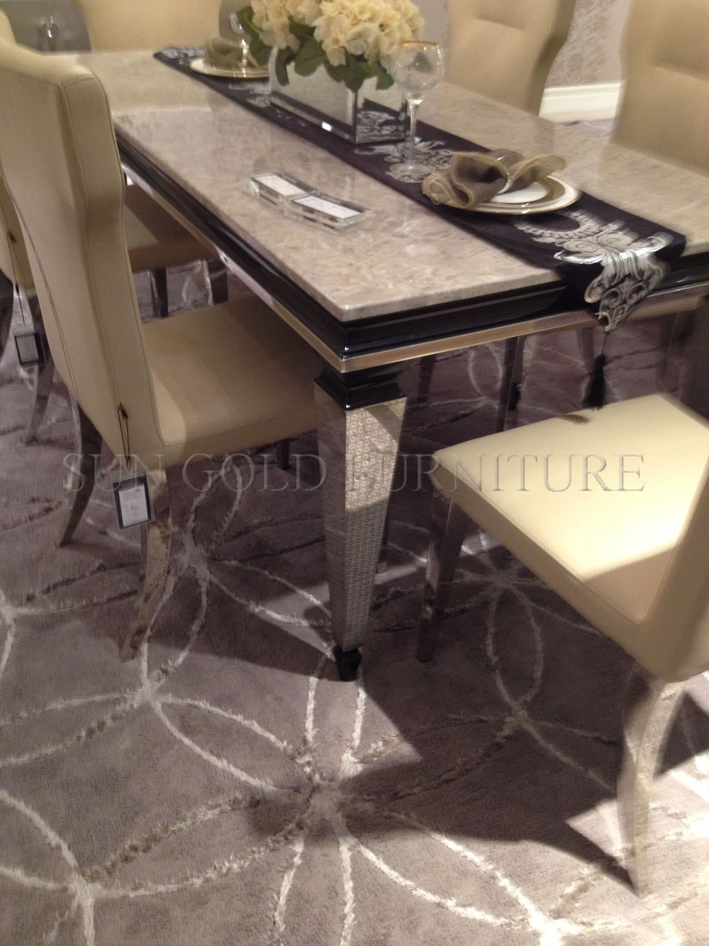 Luxury marble dining table - Classic Luxury Marble Dining Table Sz Dt032