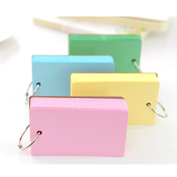 mini colorful iron ring buckle loose leaf square sticky notes memo note