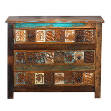 Indian Furniture in Reclaimed Wood Drawer Chest