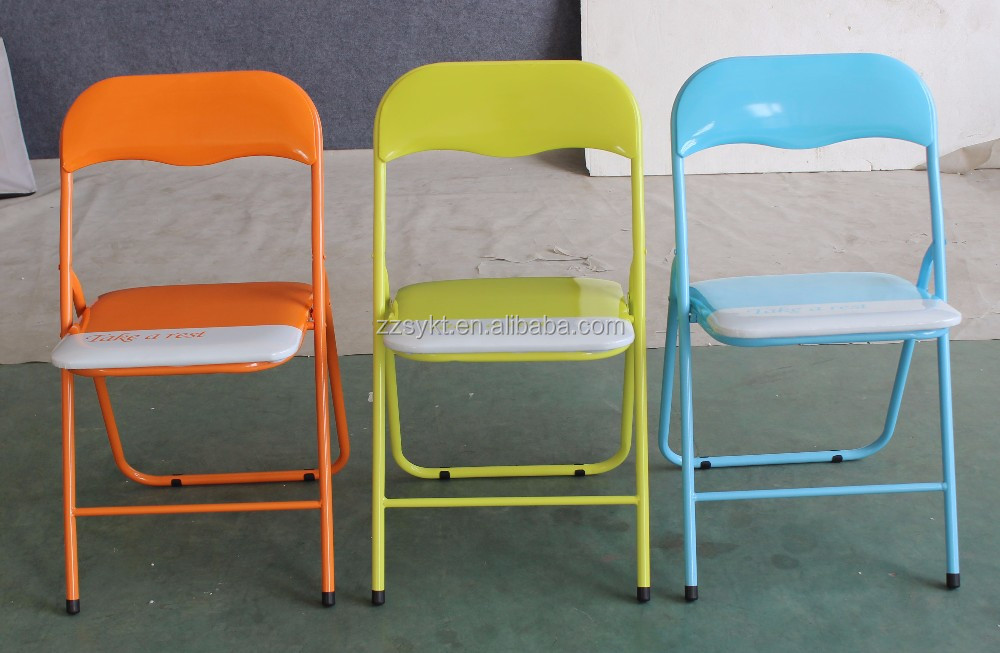 colored padded seat cushions folding chairs metal foldable chairs