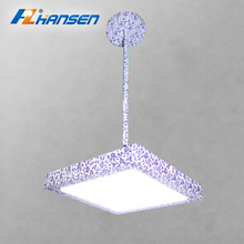 CE RoHS approval 25w square blue and white porcelain color LED chandelier pendant lights
