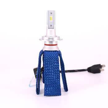 Flydee Factory produce 12V 8000 lumens original ZES chip car led kit h7 h4 fanless led headlight