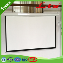 100 inch 120 inch 150 inch projector screen snow white motorised electric projection screen with synchronous motor