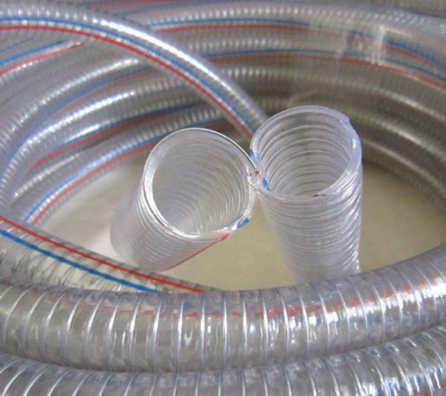 super quality high pressure steel wire reinforced spring pvc hose