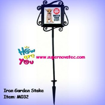 Iron Garden Stake With Sublimation Printing Tile