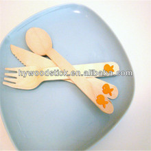 Wholesale 160mm Italian Christmas Disposable Wooden Cutlery