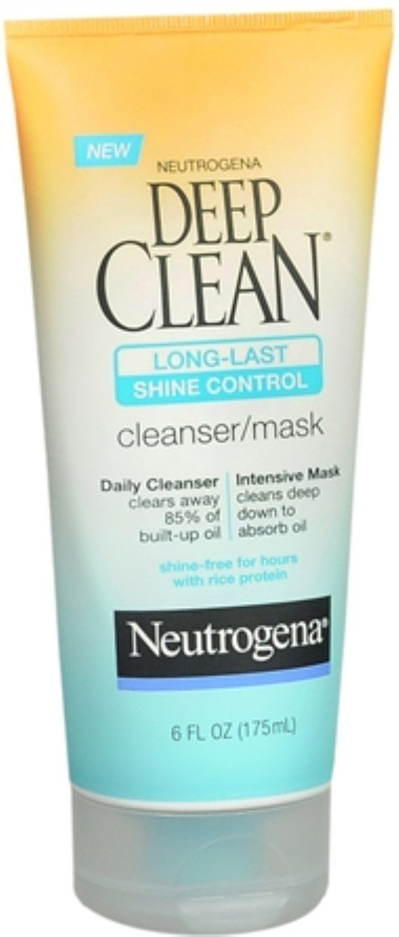 Neutrogena Deep Clean Long-Last Shine Control Cleanser/Mask 6 oz (Pack of 11)