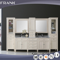 FRANK combo 70 inch dark brown wood vanity double sink european style bathroom vanity