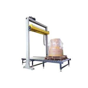 Automatic In-line Pallet Top Foil Cover/Top Foil Applicator/Top Sheet Stretch Film Dispenser