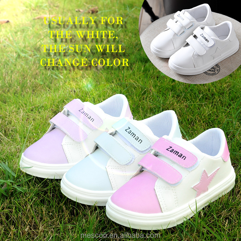 2017 new arrvial Changing Color fashion shoes for girls and boys