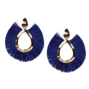 Fashion Colorful Bohemian fan shape Jewelry Tassel Earrings For Women