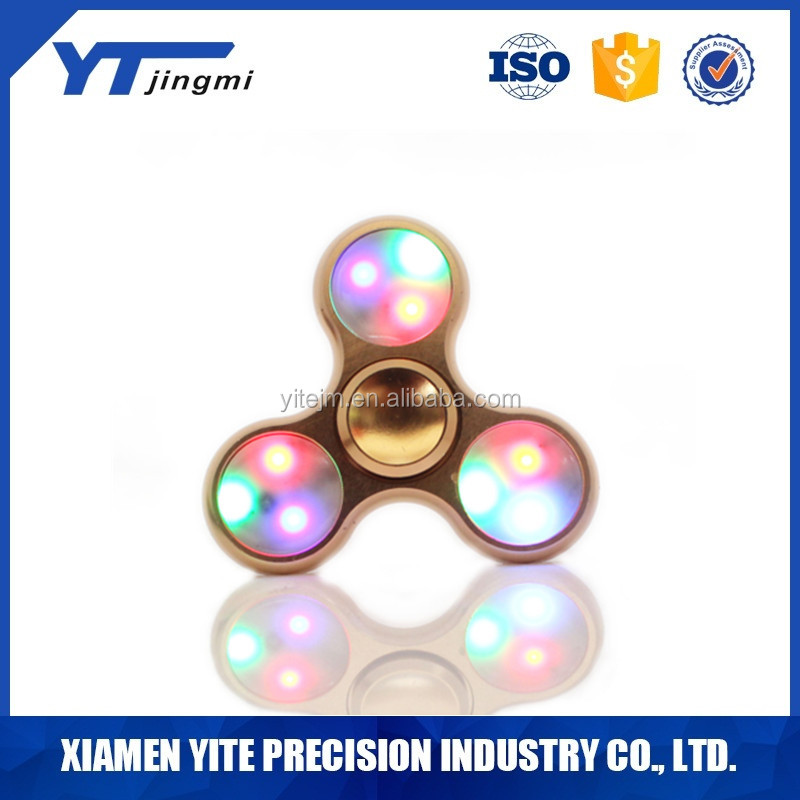 ABS+metal,Other Classic Toys Type Fidget led spinner factory price small MOQ