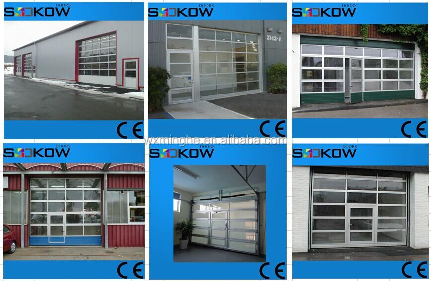 Aluminum Garage Glass Door/overhead Glass Garage Door/aluminum Frame Glass  Overhead Door
