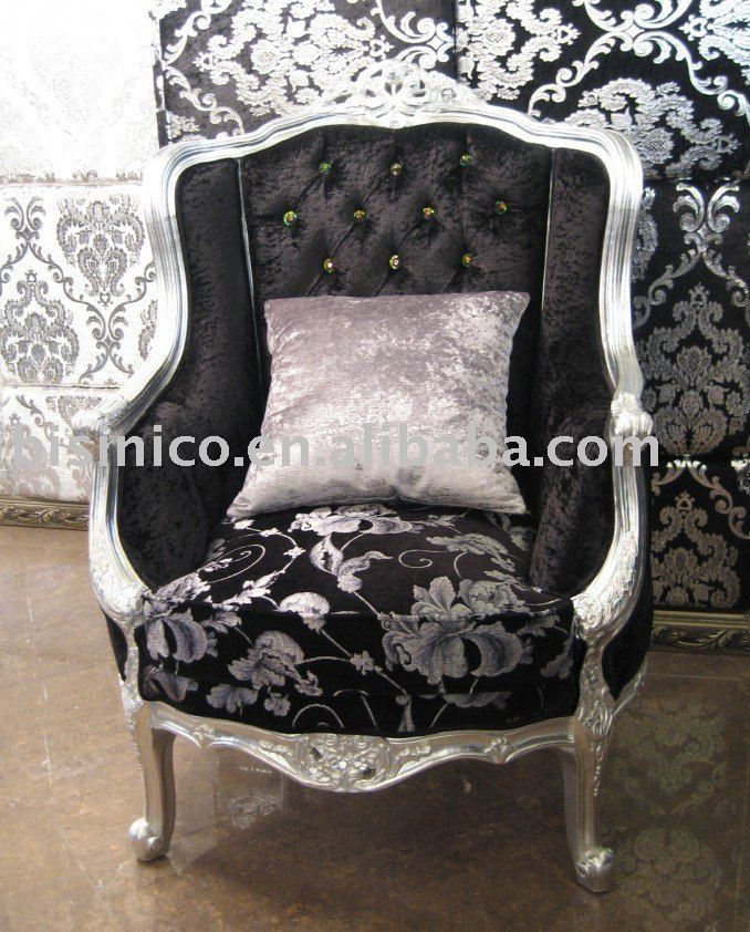 Classical Living Room Single Sofa Wing Chairs White  amp  Black Color Wooden Frame Moq 1pc b9044    Buy Arm Chair Sofa Chair Armchair Product on Alibaba com. Classical Living Room Single Sofa Wing Chairs White  amp  Black Color