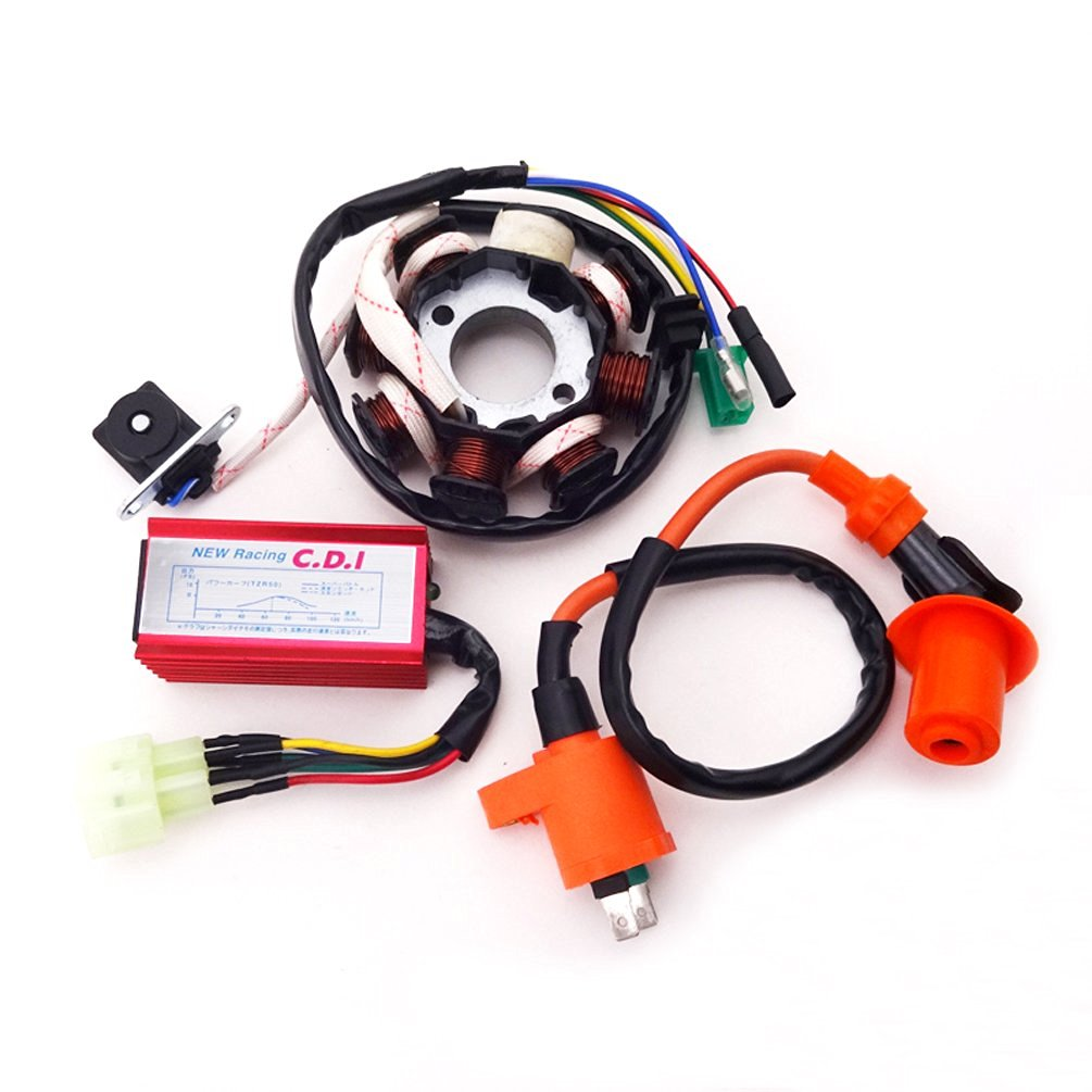 XLJOY 8 Poles Magneto Stator Racing Ignition Coil 6 Pins Wires AC CDI Box  for Chinese