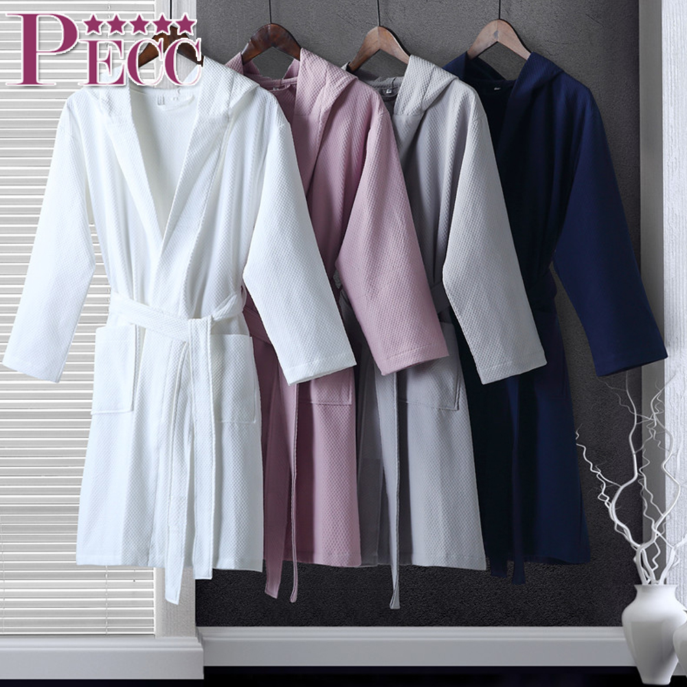 "100% Cotton Waffle Bathrobes 48"" Length for 5 Star Hotels, Wholesale"
