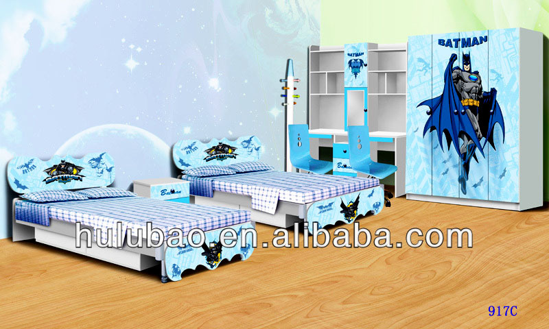 Hot Sale Spiderman Batman Kids Furniture Kids Bedroom Furniture Sets Cheap