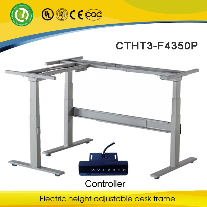 Sit stand desk with linear actuator for height adjustable for Motorized sit stand desk