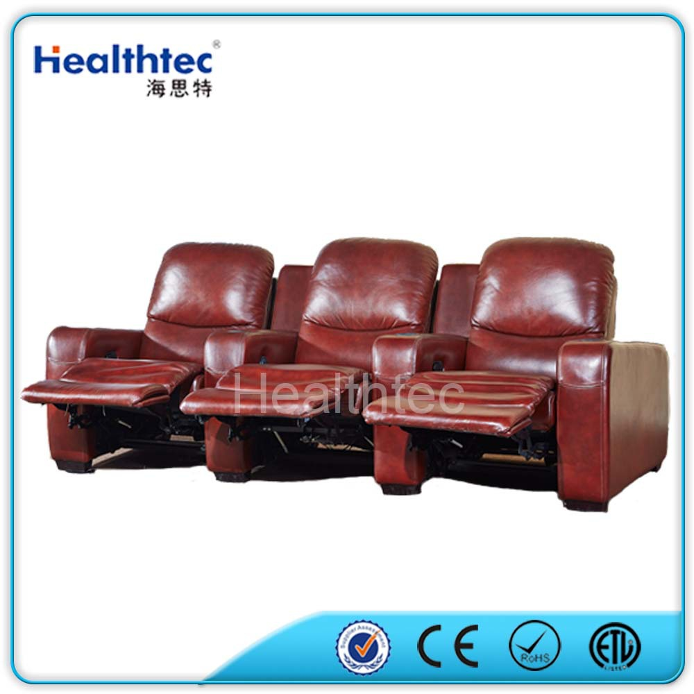Auto Reclining Home Cinema Leather Sofa With 3 Seater - Buy Home ...