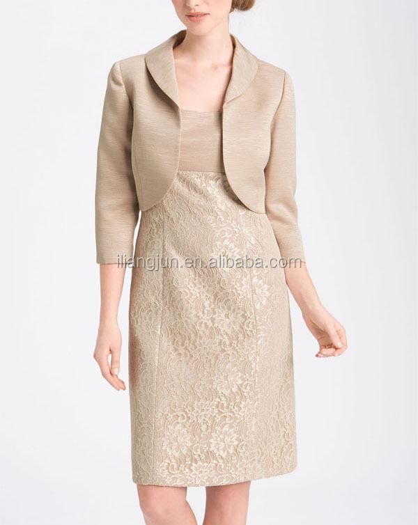 f1647f678 ... فساتين زائد حجم سترة الصورة · الإمبراطورية الخصر المرأة أنيقة الدانتيل  غمد اثنين من قطعة اللباس و سترة