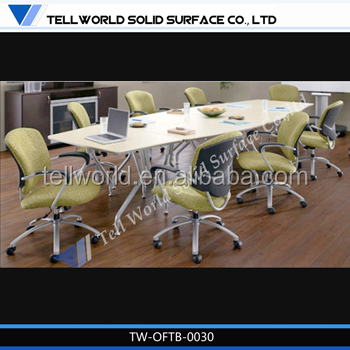 Negotiation artifical marble top conference table for your office