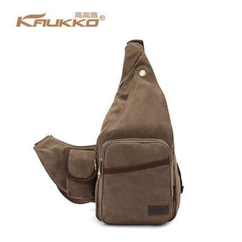 5455633da3 KAUKKO Outdoor Canvas Crossbody Shoulder Sling Bags Unbalance Chest Bag Man  Casual Messenger Vintage Bags