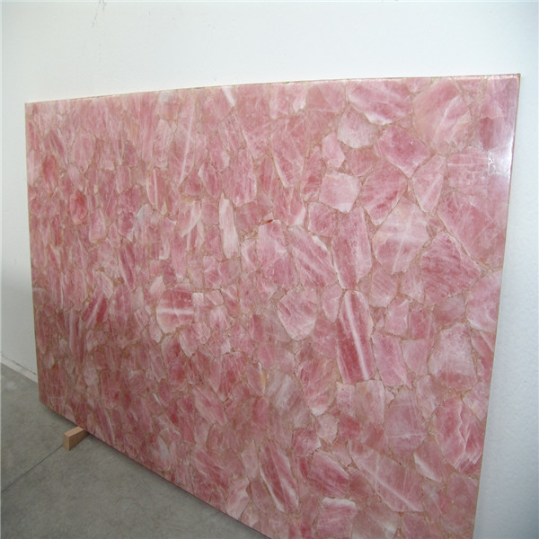 20mm Solid Pink Quartz Countertop Quartz Stone Rose Quartz