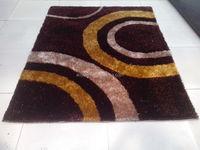 multiple design china knot+1200D rubber tiles indoor 2cm shaggy rug/carpet/floor mat manufacturer