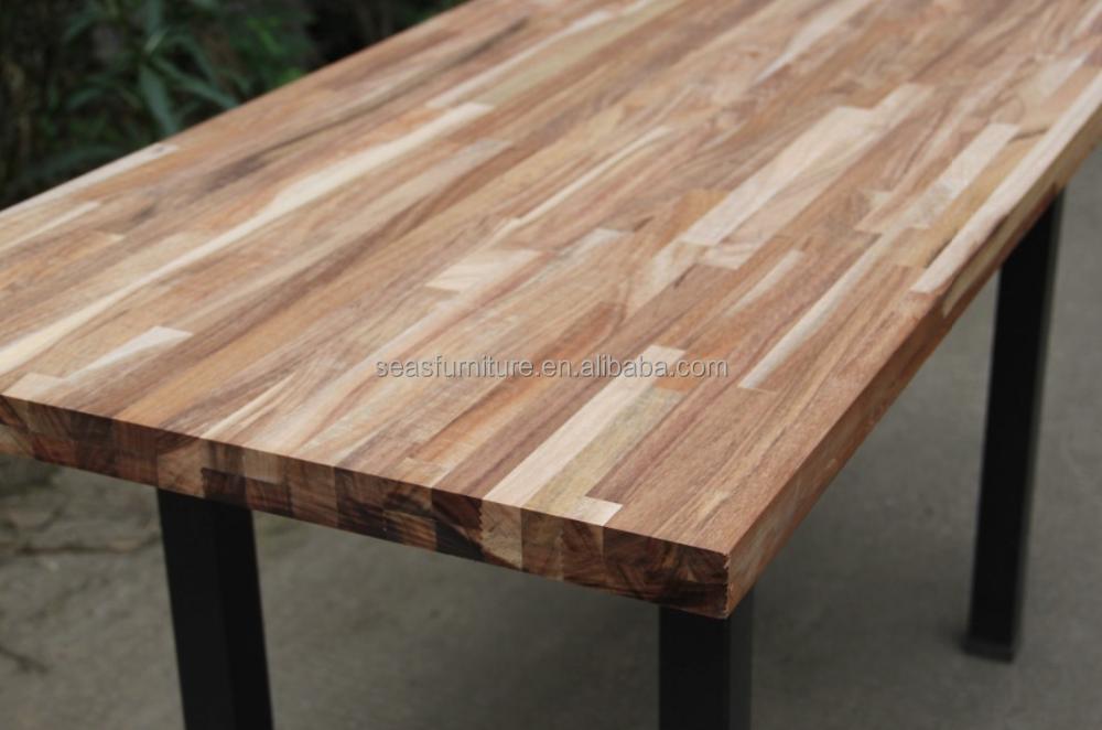 acacia table ronde top finger mixte feuillet conseil en bois massif panneau plan de travail. Black Bedroom Furniture Sets. Home Design Ideas