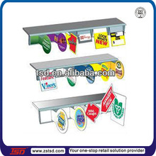 TSD-A583 PVC shelf talkers/ shelf talker holders/ sign mark