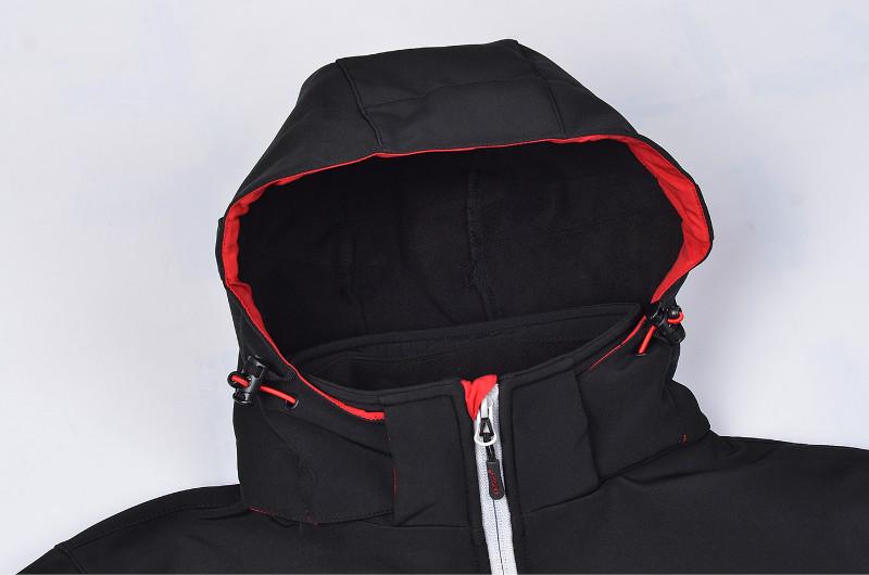 フィットネススポーツ防水ソフトシェルジャケット、高品質風ジャケット屋外、冬のジャケットの男