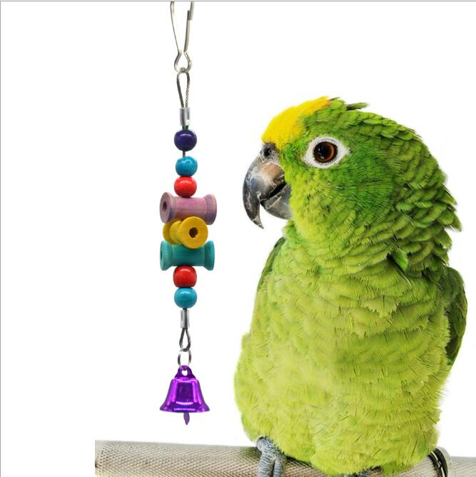 Pet Products Bird Supplies 5pcs Bite Ball Colorful Parrot Toy Set Safe Eco Friendly Hanging Chewing Bell Cage Accessories Bird Swing Pet Funny For Fast Shipping
