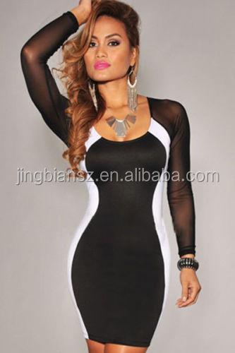 size 40 c9ac0 4e40b Sexy Lange Ärmel Dame Mode Enge Kleider,Damenmode Kleidung # Of16 - Buy  Casual Dress Designs,Einfaches Kleid Designs,Designer Engen Kleidern  Product ...