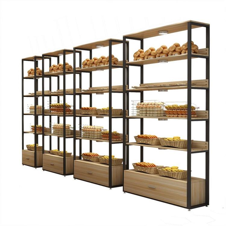 Metal Wooden Food Bread Shelves Display Rack Cabinet Display Stand Buy Bread Display Standfood Bread Display Rackbread Shelves Display Rack