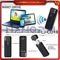 Wi-Fi USB Pen Drive Wireless USB Flash Drive wifi mini cloud storage for iphone, ipad and android devices