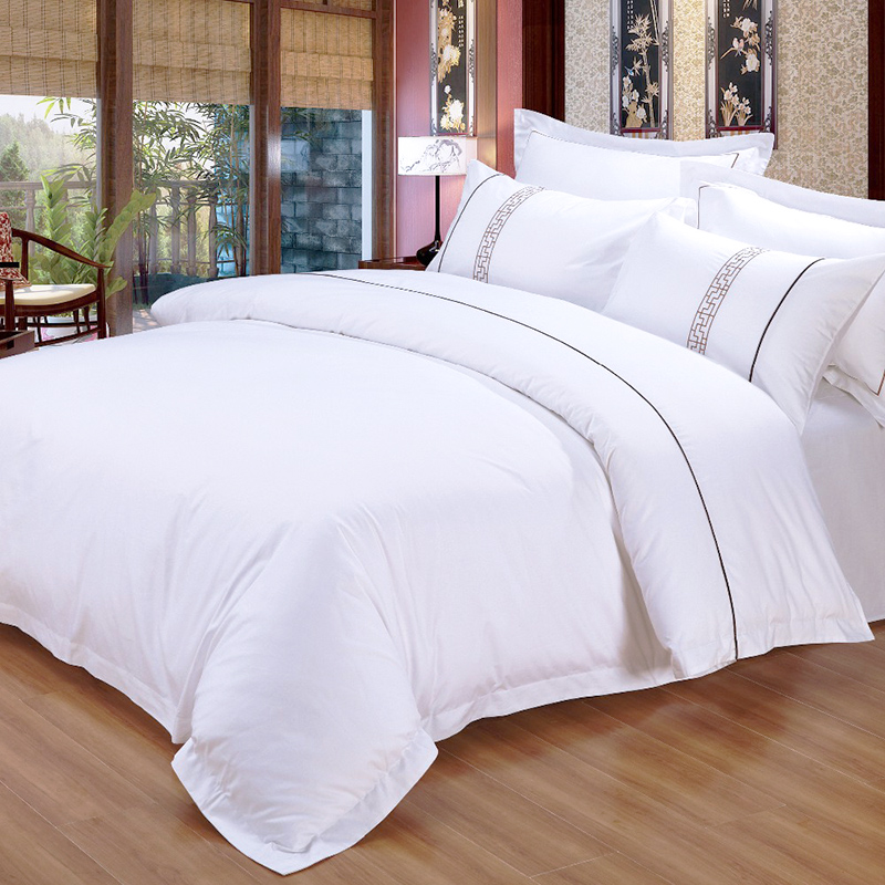 Bed Sheet 100% Cotton Four Seasons Hotel Bedding Sets Bedsheets for Hotel
