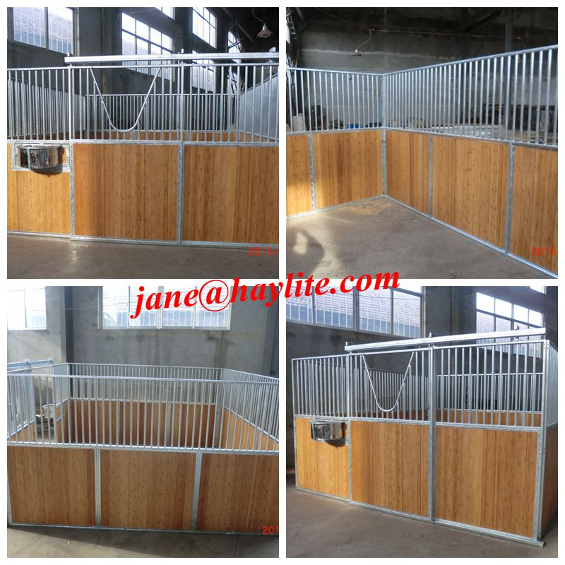 Square hay feeder with roof for horse and cattle