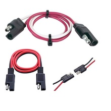 Automóvel SAE SAE Cabo de Extensão 10 Calibre <span class=keywords><strong>2</strong></span> <span class=keywords><strong>Rádio</strong></span> Pin Quick Disconnect car Wire Harness 300mm