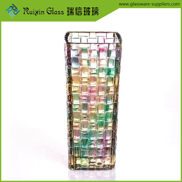 Newest Style square glass vase 24 lead crystal vases with CE certificate