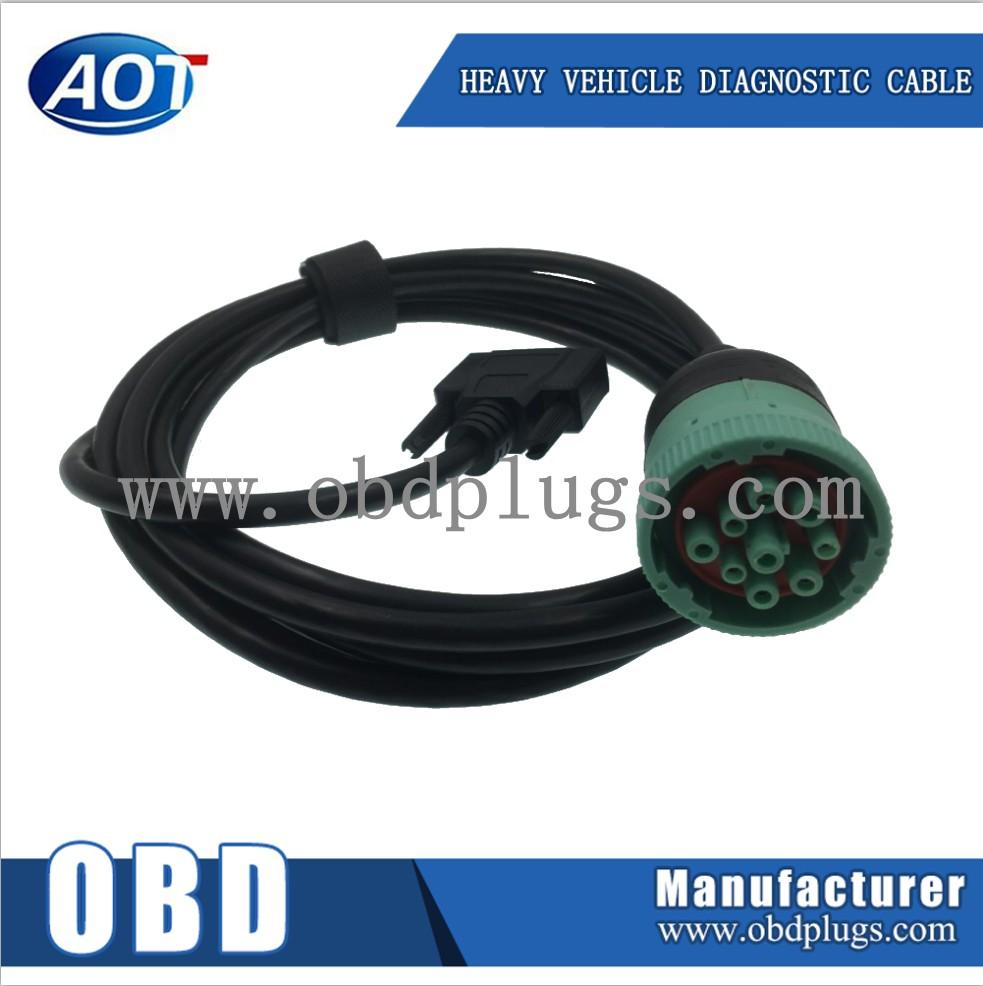 Deutsch 9 Pin Type 1 Black Ii Green J1939 Male To Db9 Female International 4700 Wiring Diagram Truck