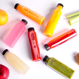 Disposable pet beverage bottle plastic fruit juice bottle milk tea cup ferment bottle with lid