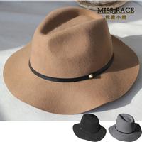 Top quality 100 wool felt women winter hat