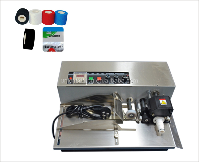 HZ 380 batch code printing machine ink roll coder for packaging line